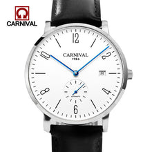 Load image into Gallery viewer, Carnival Automatic Watch Men Mechanical Watche 30M Waterproof Wristwatches Military Sapphire Crystal Mens Clock erkek kol saati