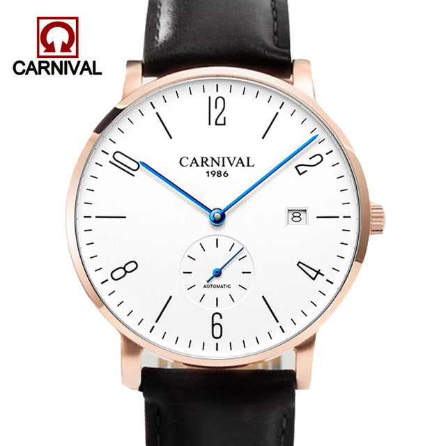 Carnival Automatic Watch Men Mechanical Watche 30M Waterproof Wristwatches Military Sapphire Crystal Mens Clock erkek kol saati