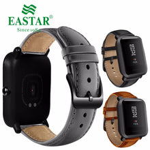 Load image into Gallery viewer, Eastar 20mm Leather Strap Black Buckle For Xiaomi Huami Amazfit Bip BIT Lite Youth Smart Watch Wearable Wrist Bracelet Watchband