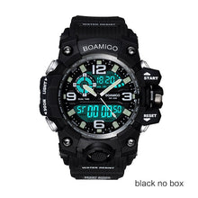 Load image into Gallery viewer, BOAMIGO Brand Men Sports Watches LED Digital Analog Wrist Watch Swim Waterproof Yellow Rubber Gift Clock Relogios Masculino