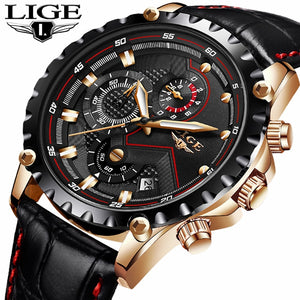 LIGE Top Brand Luxury Watch Men Fashion Casual Business Men Watches Military Sports Waterproof Quartz Watch Relogio Masculino