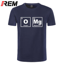 Load image into Gallery viewer, REM OMG Element Periodic Table Chemistry Science Funny T Shirt Tshirt Men Cotton Short Sleeve T-shirt Top Tees
