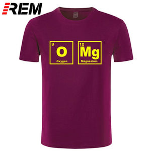 REM OMG Element Periodic Table Chemistry Science Funny T Shirt Tshirt Men Cotton Short Sleeve T-shirt Top Tees