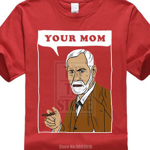 Online T Shirts Design Your Mom Freud T Shirt Funny Sigmund Psychology Joke