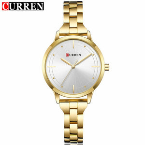 Curren Brand Luxury Black Stainless Steel Bracelet Style Women Quartz Watch Fashion Dress Ladies Watches Gifts Relogio Feminino
