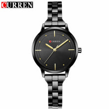 Load image into Gallery viewer, Curren Brand Luxury Black Stainless Steel Bracelet Style Women Quartz Watch Fashion Dress Ladies Watches Gifts Relogio Feminino