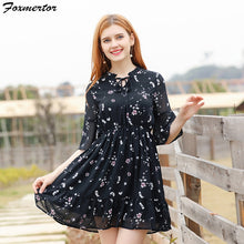 Load image into Gallery viewer, Beach Dresses Women Boho Summer Dress 2018 New Small Floral Casual Cute Floral Print Style Chiffon Short Party Dresses Vestidos