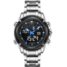 Load image into Gallery viewer, NAVIFORCE Quartz Watch Men Backlight Auto Date Display Army Outdoor Wristwatches Steel Business Multi-function Relogio Masculino