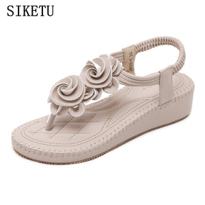 SIKETU 2018 Summer new women's sandals bohemian fashion soft bottom sandals leisure comfortable  skid woman sandals