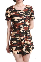Load image into Gallery viewer, CUHAKCI 2018 Women Print Army Green Camouflage Dress Sexy Mini Dresses Summer Dress Short Sleeve Female Hot Sale Vestidos S-XXL