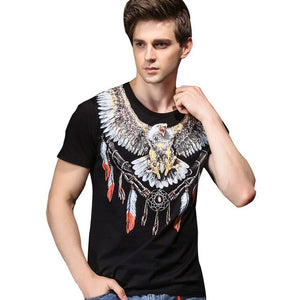 FANZHUAN Brands Clothing 2018 New Summer Men'S T-Shirt Personality Baroque Animal Print Thin Short-Sleeved T-Shirt Men 825118