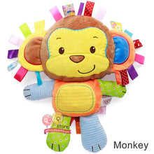 Load image into Gallery viewer, Happy Monkey Kids Plush Baby Rattle Stuffed Animal Cat Developing Educational Learning Toys Gift for Toddler Children 0-12 month