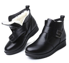 Load image into Gallery viewer, ZXRYXGS brand shoes woman boots Fur one wool shoes snow boots 2018 winter non-slip comfortable genuine leather shoes women boots