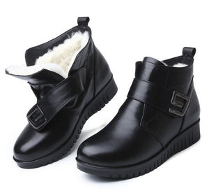 ZXRYXGS brand shoes woman boots Fur one wool shoes snow boots 2018 winter non-slip comfortable genuine leather shoes women boots