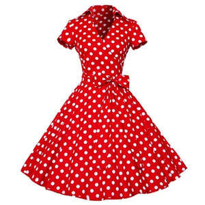Kenancy Women Rockabilly Dress Retro PinUp Hepburn V Neck Bow Ball Gown Tunic Swing Woman 50s 60s Belt Dresses Feminino Vestidos