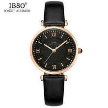Load image into Gallery viewer, IBSO New Brand Women Watches 2018 Green Genuine Leather Strap Reloj Mujer Luxury Quartz Ladies Watch Women Montre Femme