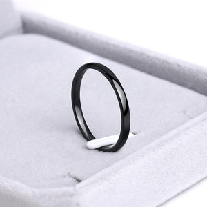 CACANA Titanium Stainless Steel Rings Rose Gold Anti-allergy Smooth Simple Wedding Couples Rings Bijouterie for Man or Woman
