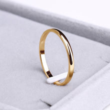 Load image into Gallery viewer, CACANA Titanium Stainless Steel Rings Rose Gold Anti-allergy Smooth Simple Wedding Couples Rings Bijouterie for Man or Woman