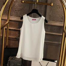 Load image into Gallery viewer, Oversized 6XL Women's shirt 2018 New arrival Sleeveless Candy colors Chiffon Blouse For Women Long Tops Summer Fashion clothes