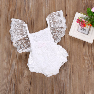 2PC Toddler 0-24M Newborn Baby Girls SET GIRLS Floral bodysuit bebe Sunsuit  1pcs Outfits Girls Clothes Set