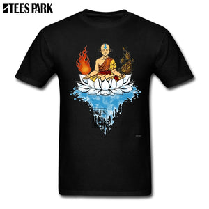 Avatar The Last Airbender Legend T Shirt Man O-Neck Short Sleeve Cartoon Movie T Shirt Wholesale Men's Cartoon Funny Pictur Tees