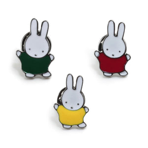 3pcs/set New Cute Yellow Red Green Rabbit Cartoon Brooch Enamel pins Bunny  Lapel Pin Badges Women Kawaii Jewelry for Kids Gifts