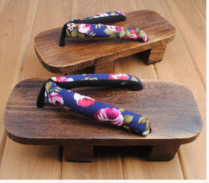 ELGEER Female slippers summer Japanese wooden geta clogs shoes sandals flip-flops two teeth with v