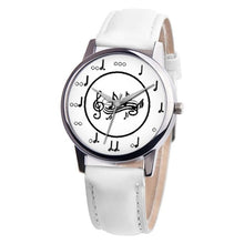 Load image into Gallery viewer, Simple Woman Quartz Analog Unisex Musical Note Style Leather WristWatch ladies Gfit Casual watch female Relogio Feminino #C