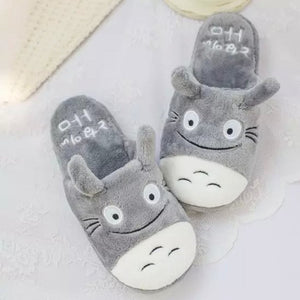 Totoro Cute Cat Cartoon Women Non-slip Animal Female Couple Home Slippers Indoor House Bedroom Male Shoes 2018 New