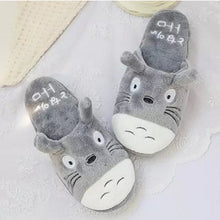 Load image into Gallery viewer, Totoro Cute Cat Cartoon Women Non-slip Animal Female Couple Home Slippers Indoor House Bedroom Male Shoes 2018 New