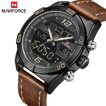Load image into Gallery viewer, NAVIFORCE Top Luxury Brand Sport Watches Men Fashion Casual Digital Quartz Wristwatches Male Military Clock Relogio Masculino