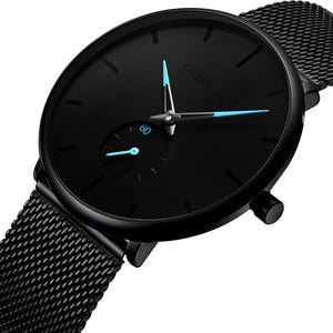 Ultra Thin Creative Black Stainless steel Quartz Watches Men Simple Fashion Business Japan Wristwatch Clock Male Relogios new