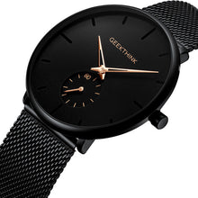 Load image into Gallery viewer, Ultra Thin Creative Black Stainless steel Quartz Watches Men Simple Fashion Business Japan Wristwatch Clock Male Relogios new