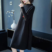Load image into Gallery viewer, Women Dress Winter Loose Style Cashmere Knitted Dresses 2018 New Fashion Autumn Warm Long Pullover Dress Woman Thick Knitwear