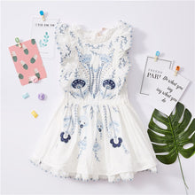 Load image into Gallery viewer, BOBOZONE 2018 NEW Floral Embroidery Dress for kids girls