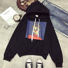 Load image into Gallery viewer, 2018 New Character Cartoon Harajuku Punk Autumn Winter Women Hooded Sweatshirt Long Sleeve Casual Loose Fleece Hoodies
