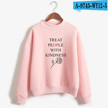 Load image into Gallery viewer, LUCKYFRIDAYF Harry Styles Treat People With Kindness Printed Sweatshirts Women/Men Turtleneck Long Sleeve Fashion Sweatshirts