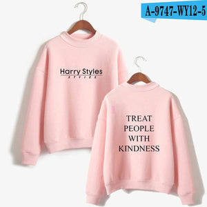 LUCKYFRIDAYF Harry Styles Treat People With Kindness Printed Sweatshirts Women/Men Turtleneck Long Sleeve Fashion Sweatshirts