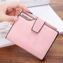Load image into Gallery viewer, New Women Short Wallets Solid Vintage Matte Nubuck PU Female Fashion Zipper Wallet Coin bag Credit Card Holder More Color