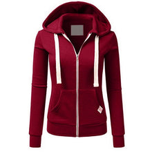 Load image into Gallery viewer, Fashion Zipper Hoodies Sweatshirt Women Pink Hooded Long Sleeve Autumn Tracksuits Winter With Pockets Pullovers Coats Female