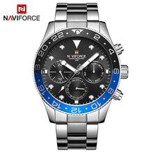 Load image into Gallery viewer, NAVIFORCE Top Luxury Brand Watches Men Fashion Casual Quartz 24 Hours Date Sport Watch Man Full Steel Business Waterproof Clock
