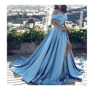 Fish Tail Sexy Long Dresses V-Neck Backless Party Gowns Sleeveless Sweep Train Cheap Tulle Party Dress Vestidos de fiesta