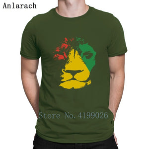 Jamaica Lion Mens Reggae Jamaican Music T-Shirt Clothes Printed T Shirt For Men Size S-3xl Pattern Slim Fit Summer