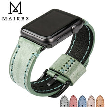 Load image into Gallery viewer, MAIKES Special Leather Watchband Replacement For Apple Watch Band 44mm 40mm / 42mm 38mm Series 4 3 2 All Models Watch Strap