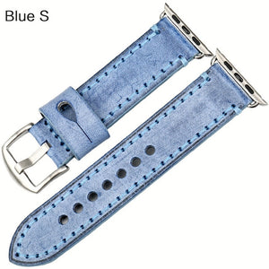 MAIKES Special Leather Watchband Replacement For Apple Watch Band 44mm 40mm / 42mm 38mm Series 4 3 2 All Models Watch Strap