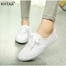 Load image into Gallery viewer, Canvas Woman's Flat Platform Sneakers Autumn Lace Up Causal Colors Fashionable Espadrilles Female Shoe 2018 Footwear For Girls