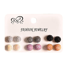 Load image into Gallery viewer, New fashion women accessories wholesale girls birthday party pearl earrings beautiful mix-and-match 6 pairs /set earrings