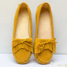 Load image into Gallery viewer, Women Loafers Tassel Bow-tie Slip On Flats 2018 Autumn Shoes Female Ballet Platform Casual Moccasins Ladies Fashion Footwear