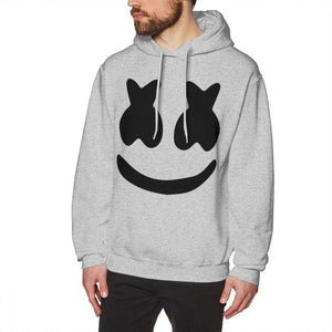 Marshmello Hoodie Marshmello Face Hoodies Male Long Pullover Hoodie Cotton Large Streetwear Autumn Blue Stylish Hoodies