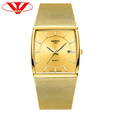 Load image into Gallery viewer, NIBOSI Golden Quartz Watch Men Watches relogio masculino Top Luxury Gold Bracelet Wrist Watches Steel Waterproof Male Clock